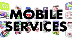 Mobile Services Apps Software Programs Tiles Animation Stock Footage