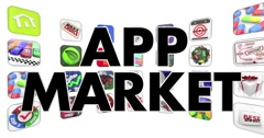 App Market Software Download Store Animation 4K Stock Footage