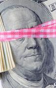 Concept portrait of the president on dollar bill Kuvituskuvat