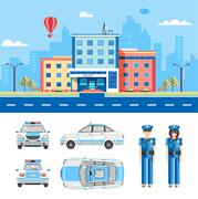 POLICE STATION  Stock Illustration