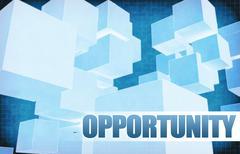 Opportunity on Futuristic Abstract - stock illustration