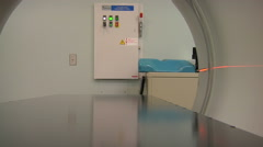 Modern Cat Scan Machine In Hospital Stock Footage