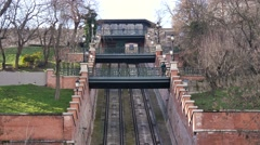 Budapest Castle, Hill Funicular Stock Footage