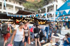 Blurry crowded market - stock photo