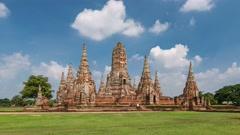 Ayutthaya Historical Park timelapse, Ayutthaya, Thailand, 4K Time lapse Stock Footage