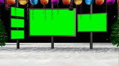 Animated chroma key green shiny virtual set from all camera angles Stock Footage