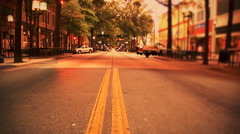 Slide Shot of Main Street In Greenville South Carolina Stock Footage