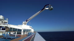 Cruise ship observation capsule moving. Anthem of the seas Stock Footage