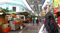 Kuala Lumpur markets hyper lapse Stock Footage