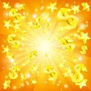 Dollar Jackpot Background - stock illustration