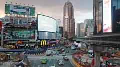 Bukit Bintang intersection rush in Kuala Lumpur Stock Footage