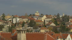 High angle view of houses in Zagreb, Croatia - stock footage