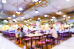 Blurred people in food center or restaurant Stock Photos