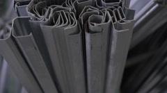 Metal profiles for metal windows. 4K Stock Footage