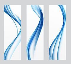 Abstract Colored Wave Header Background. Vector Illustration Stock Illustration