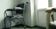 bedside commode in hospital room - stock footage