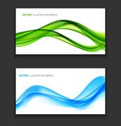 Abstract Colored Wave Card Background. Vector Illustration - stock illustration