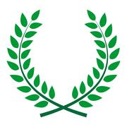 Award Laurel Wreath. Winner Leaf label,  Symbol of Victory. Vect - stock illustration