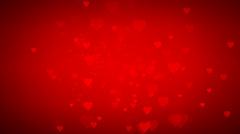 Animated many moving small red hearts useful greeting Stock Footage