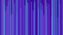 Animated purple blue cyan vertical line bars moving in speed - stock footage