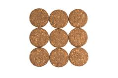 Cocoa biscuits with fiber, gluten-free on a white background - stock photo