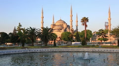 Playing fountain at Sultanahmet Square, Instanbul Stock Footage