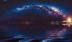Milky-way in night sky Kuvituskuvat