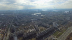 flying high above Kiev - stock footage
