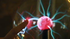 Close-Up Plasma Ball 3 Stock Footage