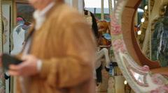Animal carousel merry-go-round, Cascais, Portugal Arkistovideo