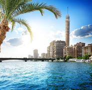Nile in Cairo - stock photo
