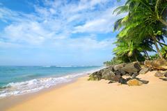 Beach in Gala - stock photo