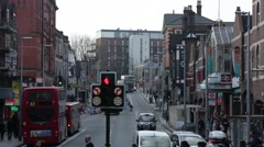 Clapham junction busy traffic: London, England, Europe - stock footage