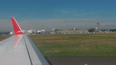 A view of the apron Frankfurt Airport Stock Footage