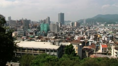 View to the residential area buildings in Macau, China. Stock Footage
