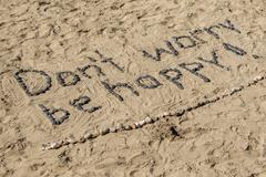 Don't Worry Be Happy - stock photo