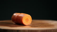 Slicing A Carrot Stock Footage