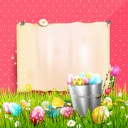 Easter background - stock illustration