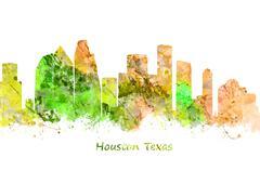 Houston Texas Stock Illustration