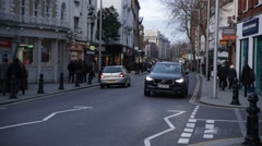 London traffic, day time, London, England, Europe - stock footage