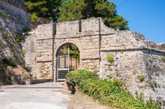 Gate to the Venetian Castle in Zakynthos city - stock photo