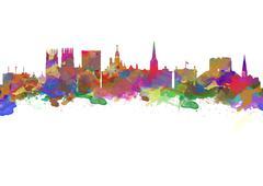 York England Stock Illustration