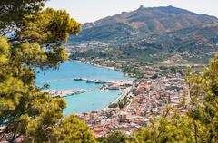 Aerial view of Zakynthos city Stock Photos