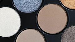 set of cosmetic eye shadow - stock footage