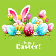 Easter greeting card Stock Illustration