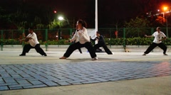 China folk martial arts, physical exercise, fitness is self-defense - stock footage