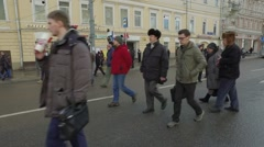 Russia. Moscow. March of memory of Boris Nemtsov. Stock Footage