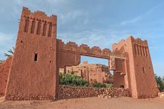 Entrance of ksar Ait Benhaddou, Ouarzazate. Morocco. Stock Photos