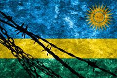 Rwanda flag - stock illustration