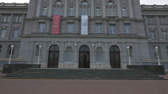 Low angle view of Mimara Museum in Zagreb, Croatia Stock Footage
